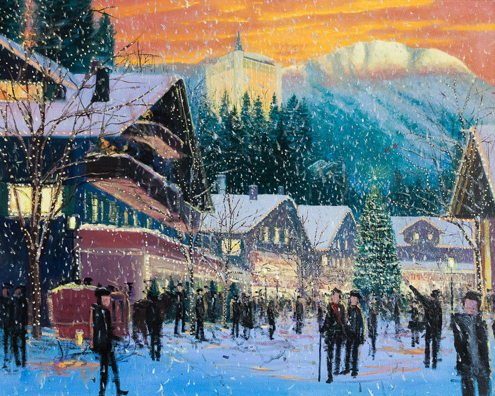 Christmas In Switzerland.Christmas In Switzerland Live Wedding Event Painting