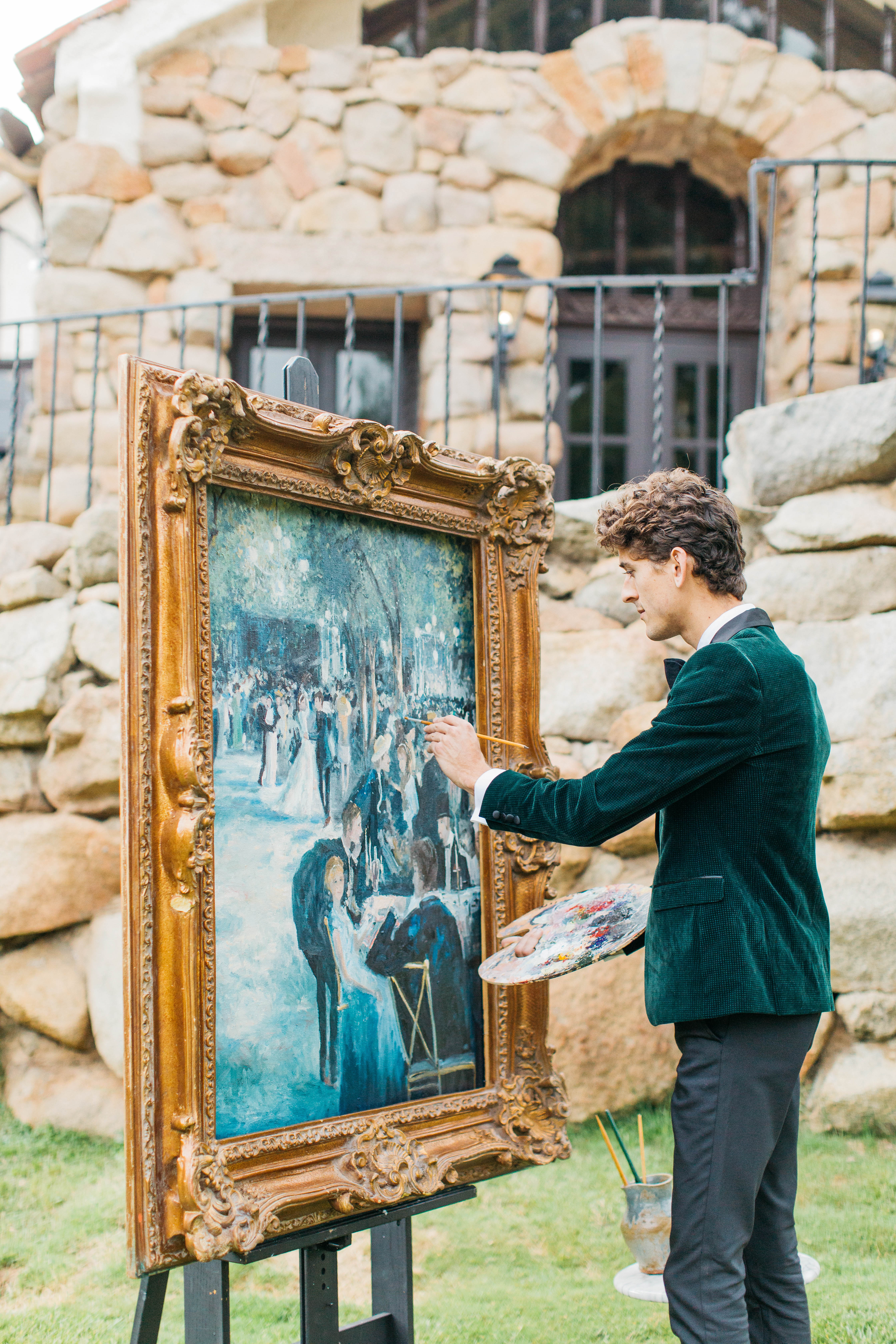live wedding painter Joshua Spieker