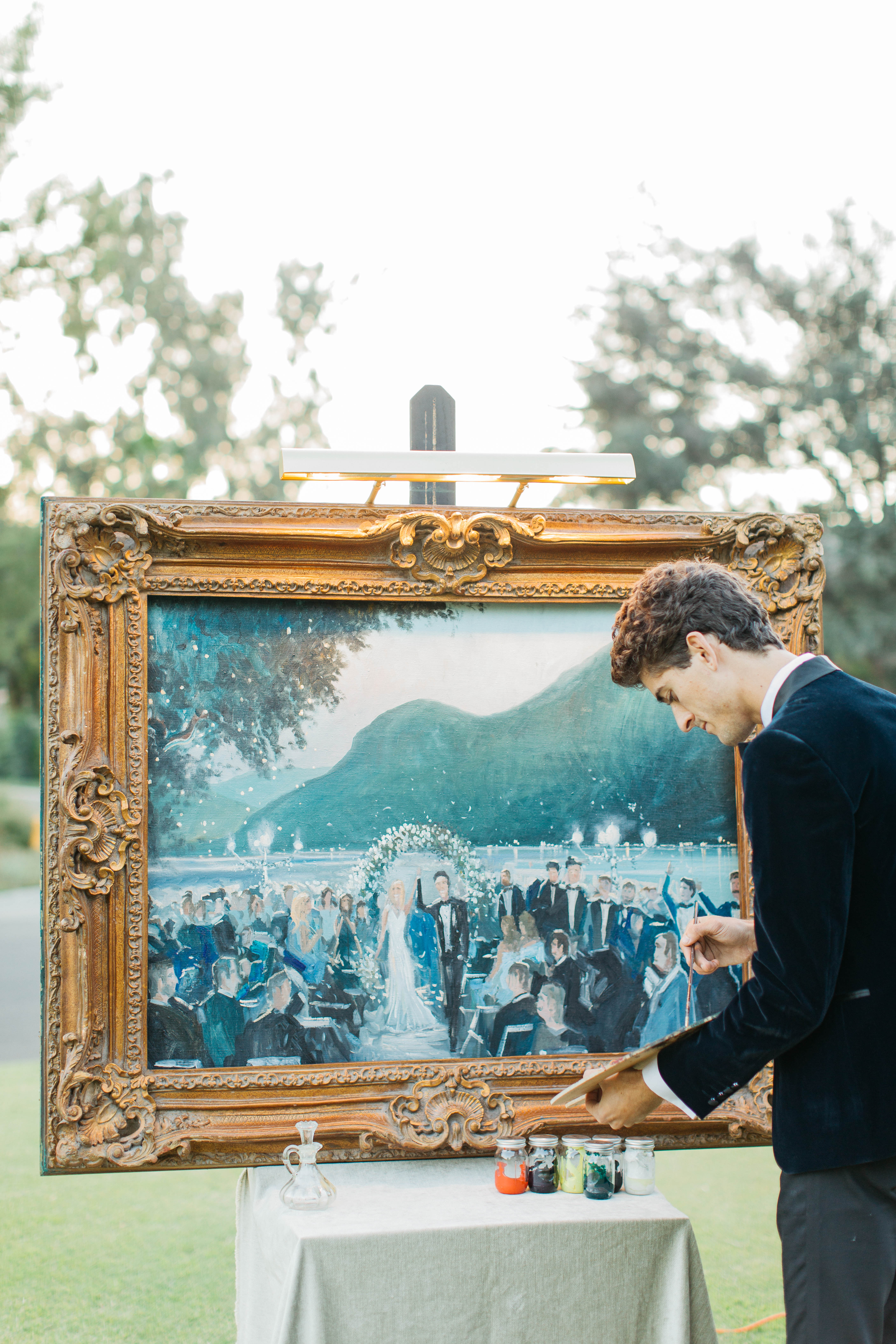 live wedding painter, Joshua Spieker