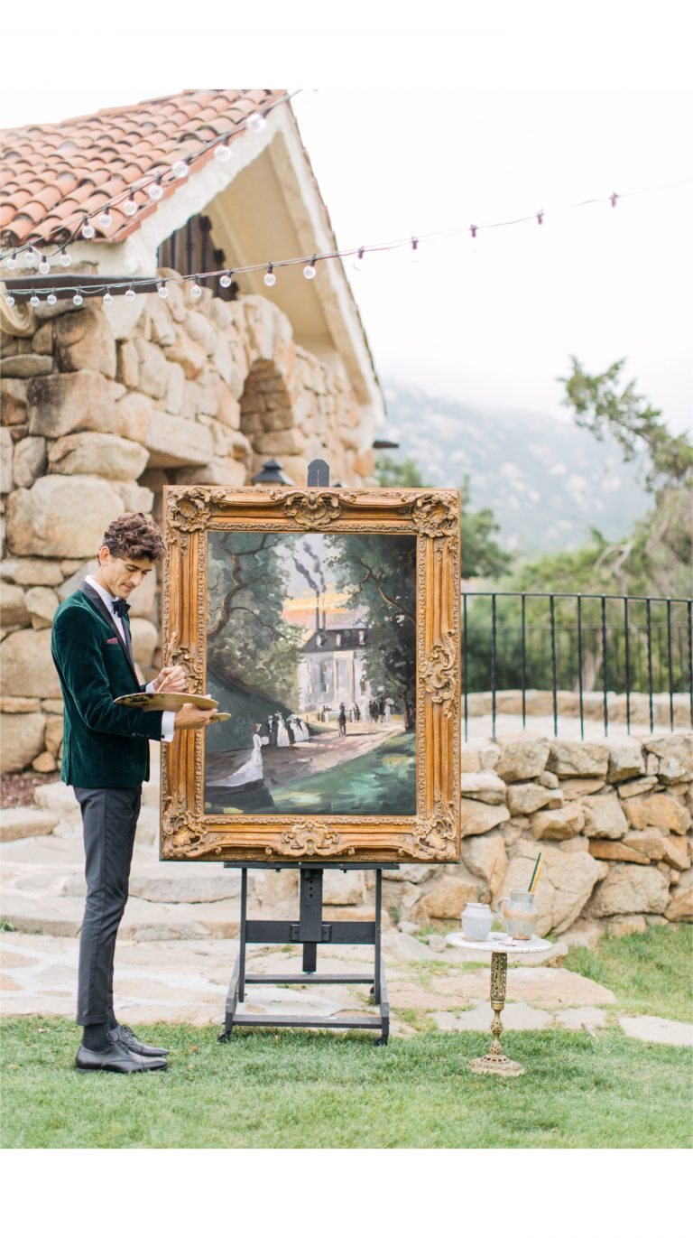 live wedding painter Joshua