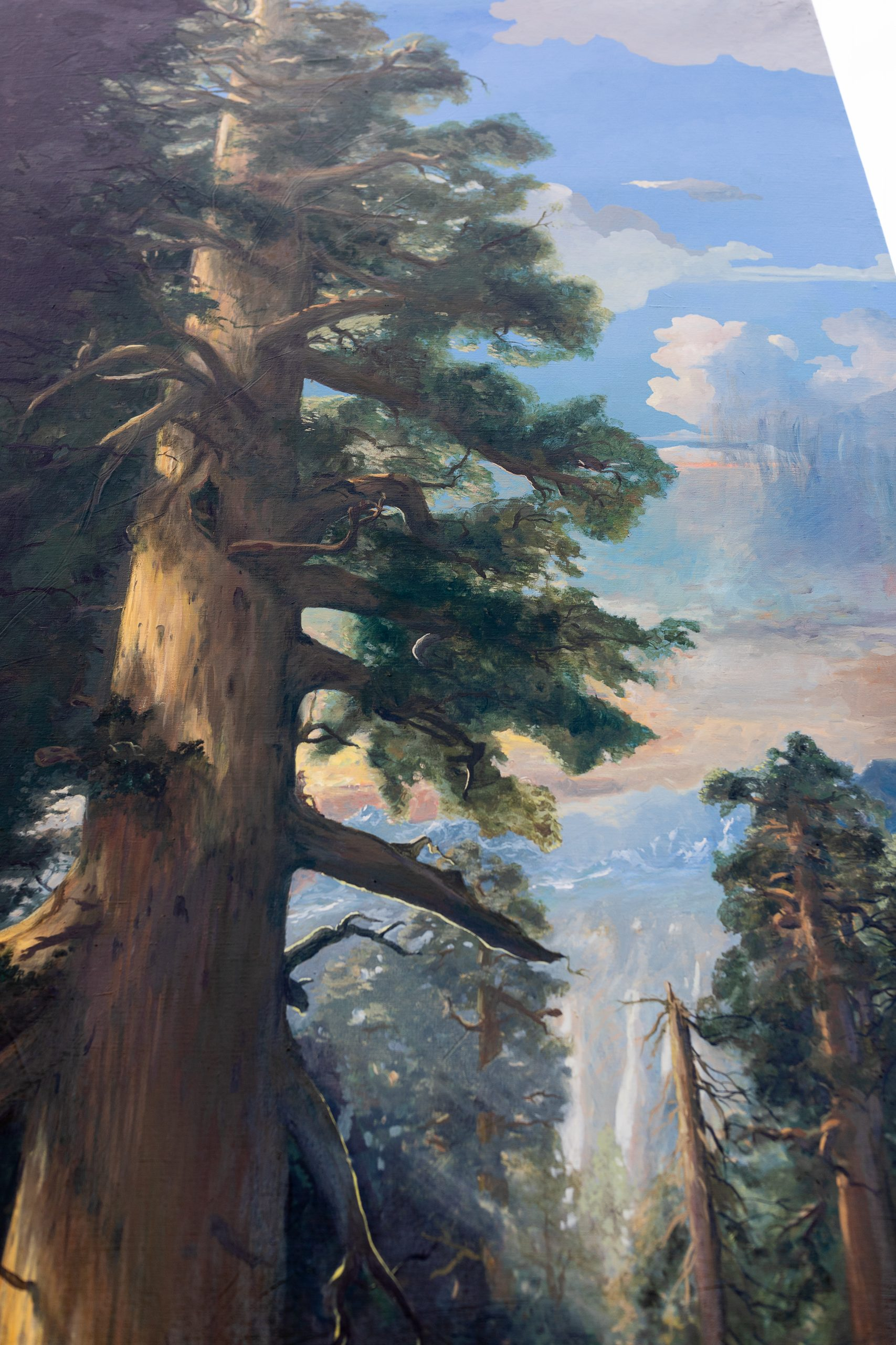 Huge Custom Giant Sequoia Oil Painting